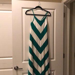 Herringbone printed dress